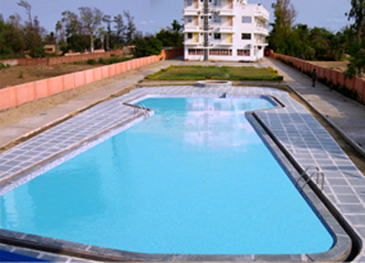 Mandarmani hotel oyezter bay kolahal travel guide for Resorts in santiniketan with swimming pool